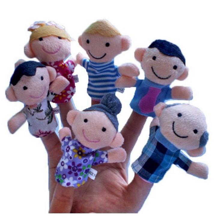 Bộ 6 rối ngón tay gia đình - 2809536 , 124119556 , 322_124119556 , 42000 , Bo-6-roi-ngon-tay-gia-dinh-322_124119556 , shopee.vn , Bộ 6 rối ngón tay gia đình