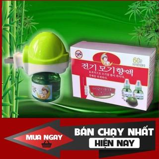 Đèn đuổi muỗi tinh dầu Hàn Quốc (1 máy+ 2 lọ dầu)