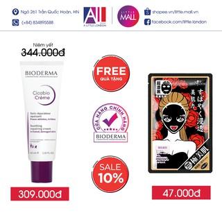 Kem dưỡng ẩm và phục hồi da Bioderma cicabio crème 40ml TẶNG mặt nạ Sexylook (Nhập khẩu)