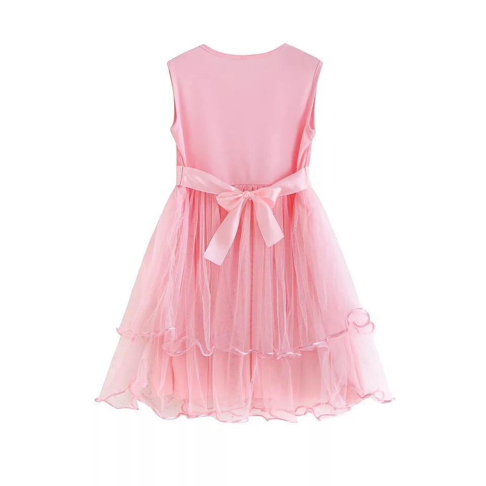 đầm công chúa- đầm lưới bông ribbon- cho bé 3-10 tuổi