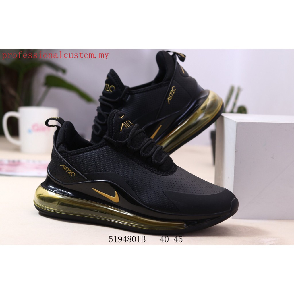 New Arrival Nike Air Max 720 Men Comfortable Sports Running shoes black yellow