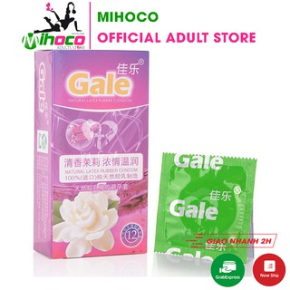 Bao cao su Gale trơn siêu mỏng tinh dầu thơm hoa nhài 12 bao – MIHOCO