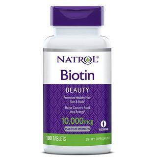 Viên Uống Mọc Tóc Natrol Biotin 10000 Mcg Của Mỹ 100 Viên, Mẫu mới