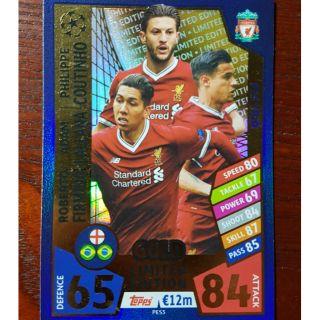 Topps match attax Liverpool trio. ( thẻ cầu thủ )