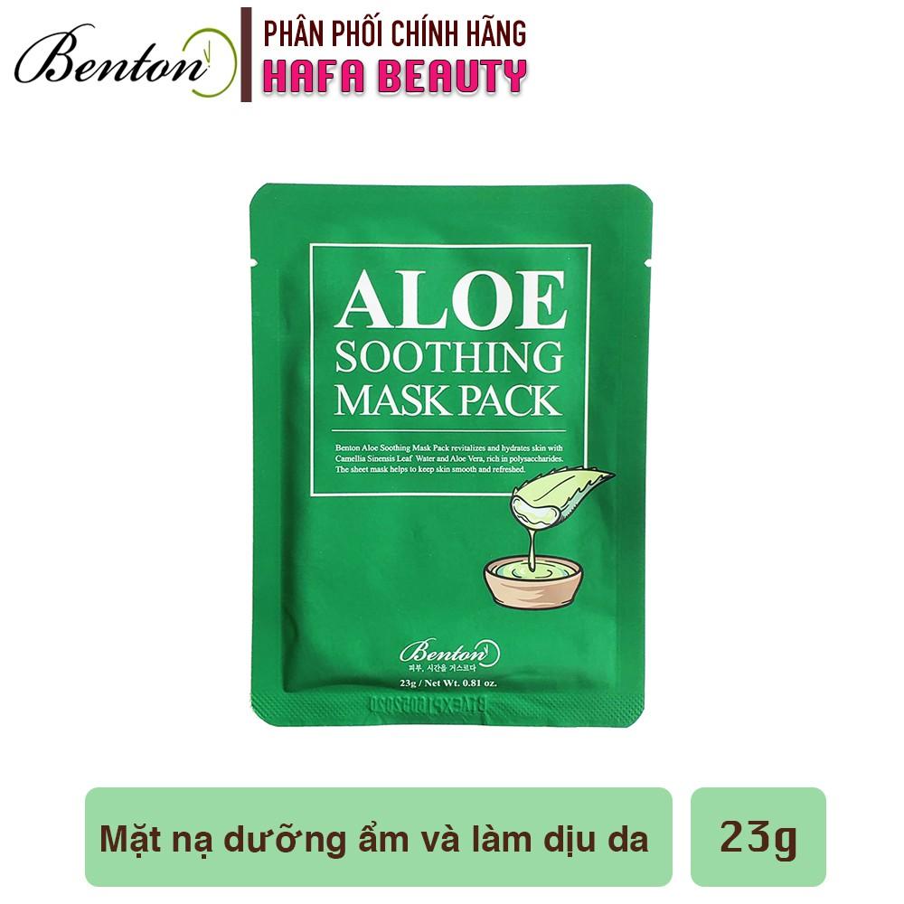 Mặt nạ dưỡng ẩm cho da nhạy cảm, da mụn Benton Aloe Soothing Mask Pack 23g