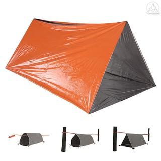 Lều kiêm túi ngủ bằng tấm phim nhôm để cứu hộ cắm trại tiện dụng