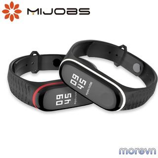 Dây đeo silicon thể thao vân kim cương Mi band 3, mi band 4 chính hãng Mijobs - dây đeo thay thế miband 3 4 (Mijobs) thumbnail