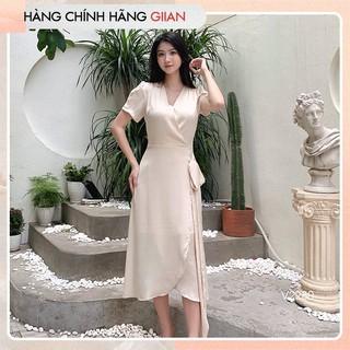 Giian - Váy lụa buộc dây cổ V, đầm xòe tiểu thư - thiết kế chính hãng - V2280 thumbnail