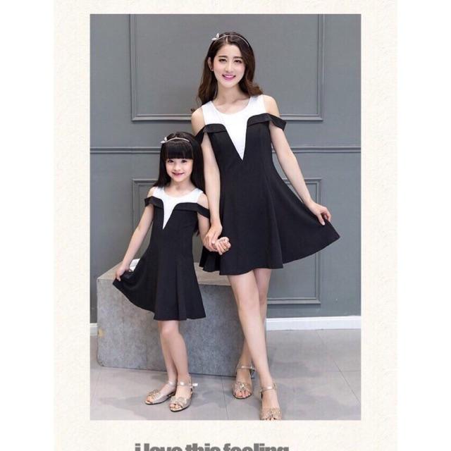 Set váy đôi mẹ và bé trễ vai - 2549457 , 346968757 , 322_346968757 , 280000 , Set-vay-doi-me-va-be-tre-vai-322_346968757 , shopee.vn , Set váy đôi mẹ và bé trễ vai