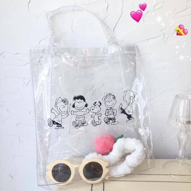 Túi đeo plastic trong suốt Ulzzang Tom House