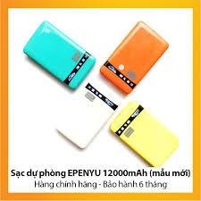 [ELMI04 hoàn 25K xu]PIN DỰ PHÒNG EPENYU 12000Mah Hàng chính hãng ✓ 2 CỔNG USB ✓ MÀN LED BÁO DUNG LƯỢNG PIN