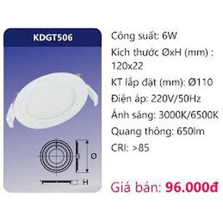 Đèn led pane âm trần 6w – Duhal KDGT506