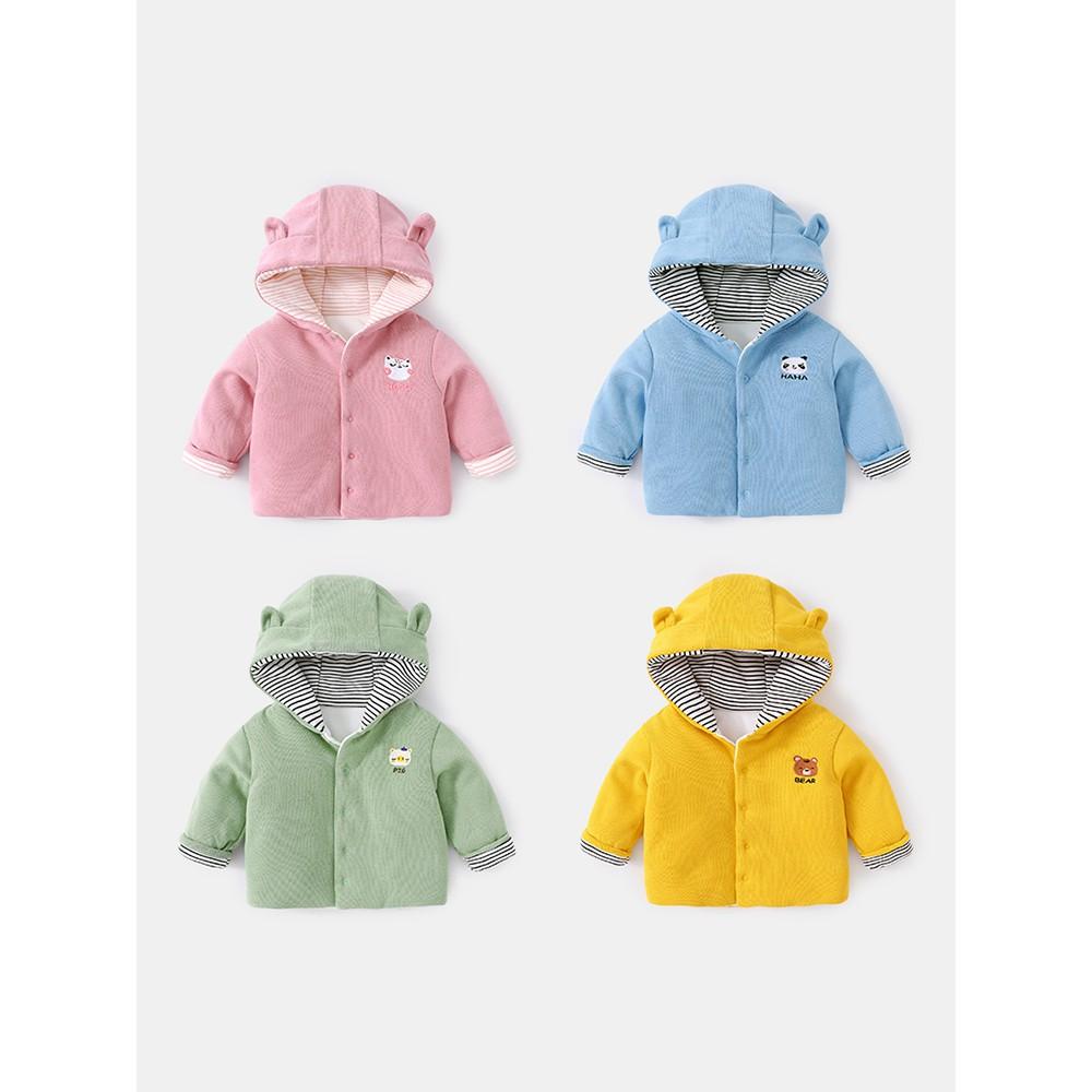 Áo khoác cho bé mùa thu đông nữ bé mùa đông dày áo bông nhỏ nam sơ sinh trẻ  em quần áo ấm mùa đông quần áo cotton H145