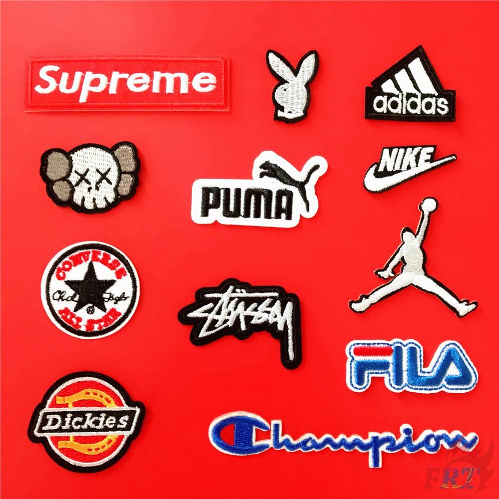 Miếng dán thêu họa tiết phong cách thể thao trang trí quần áo