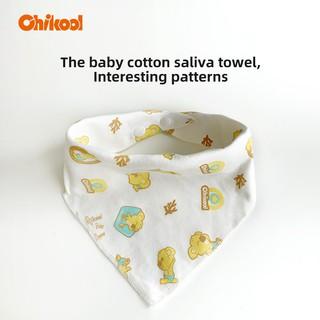 Yếm Ăn Chikool Hình Tam Giác Bằng Cotton Dành Cho Trẻ Em Có Nút Cài thumbnail