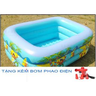 Bể Bơi 3 Tầng Các Đủ Các Cơ + Bơm Phao Điện