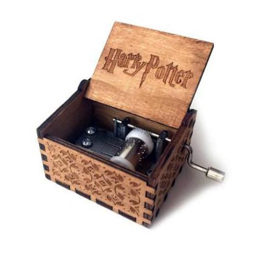 Handmade Hand-cranked Type Classical Wooden Music Box Harry Potter Titanic