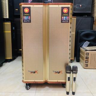 Loa kéo Bass 40 Cao Cấp 3 đường tiếng - Tặng 2 micro Kim loại UHF sét được tần số thumbnail