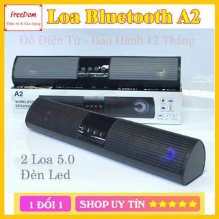 Loa bluetooth speaker A2 dáng dài 2 loa cực đỉnh, kiểu dáng sang trọng hỗ trợ thẻ nhớ, đài FM