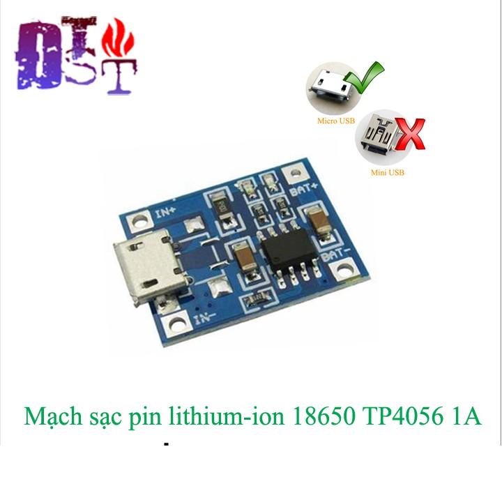 Combo 3 Mạch sạc pin 18650 lithium 3.7-4.2v TP4056 micro USB