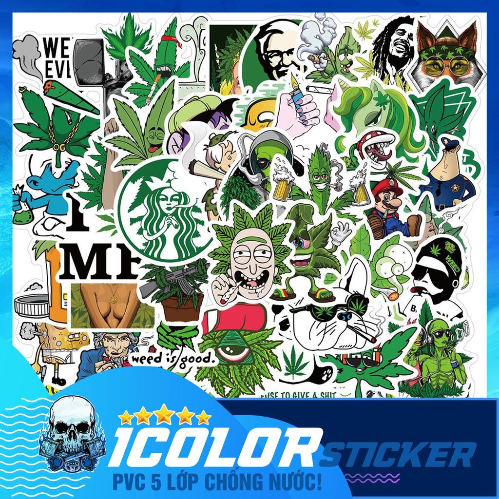 [STICKER xanh ngầu] sticker chống nước, dán mũ bảo hiểm, vali, laptop, đàn,... 015