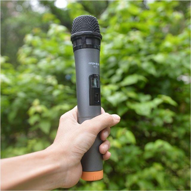[Loại 1] Micro Karaoke Không Dây Đa Năng V12 Dành Cho Loa Kẹo Kéo, Amli, Loa xách tay Bluetooth.