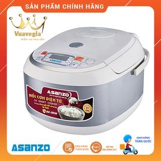 Nồi cơm điện tử sóng cao tần IH Smart Cooker đa năng đáy tổ ong Asanzo AR-18EW (1.8 lít)