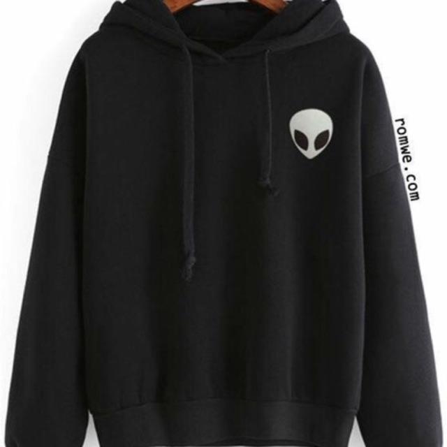 Áo hoodie nam nữ logo người ngoài ht