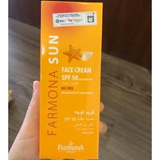 FARMONA SUN FACE CREAM SPF 50+ 50ML. KEM CHỐNG NẮNG SPF 50+ KHÔNG CHỨA DẦU CHO DA MẶT. thumbnail