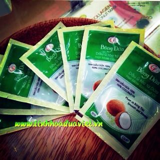 50 gói dầu ủ tóc Bông dừa cửu long 5ml gói thumbnail