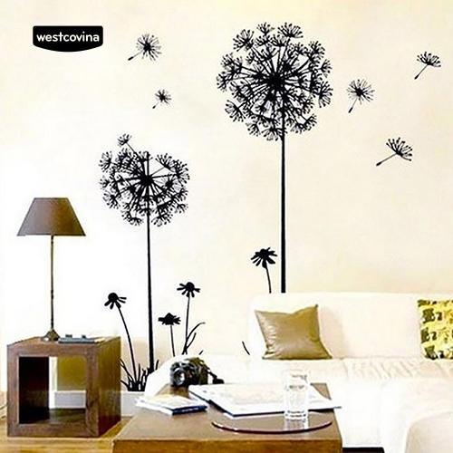 Giấy dán tường trang trí hình hoa bồ công anh lãng mạn