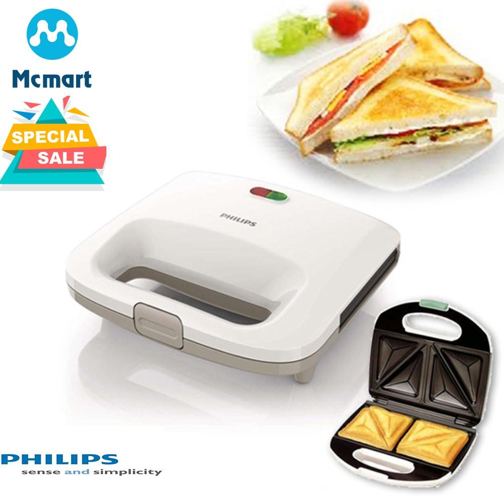 Máy làm bánh sandwich Philips HD2393 (Trắng) - Hàng nhập khẩu