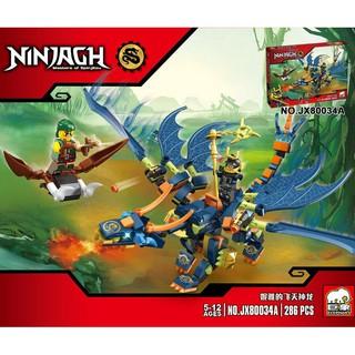 Đồ chơi lắp ráp lego ninjago rồng xanh dương ninja cho bé trai như hình jx80034A.
