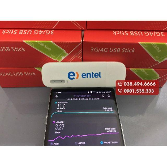 [Nhập ELCLMAY hoàn 30K xu đơn từ 200K]USB Phát Wifi 3G/4G – Huawei E8231s – entel – Tốc độ cao 21.6Mbps Giá chỉ 345.000₫