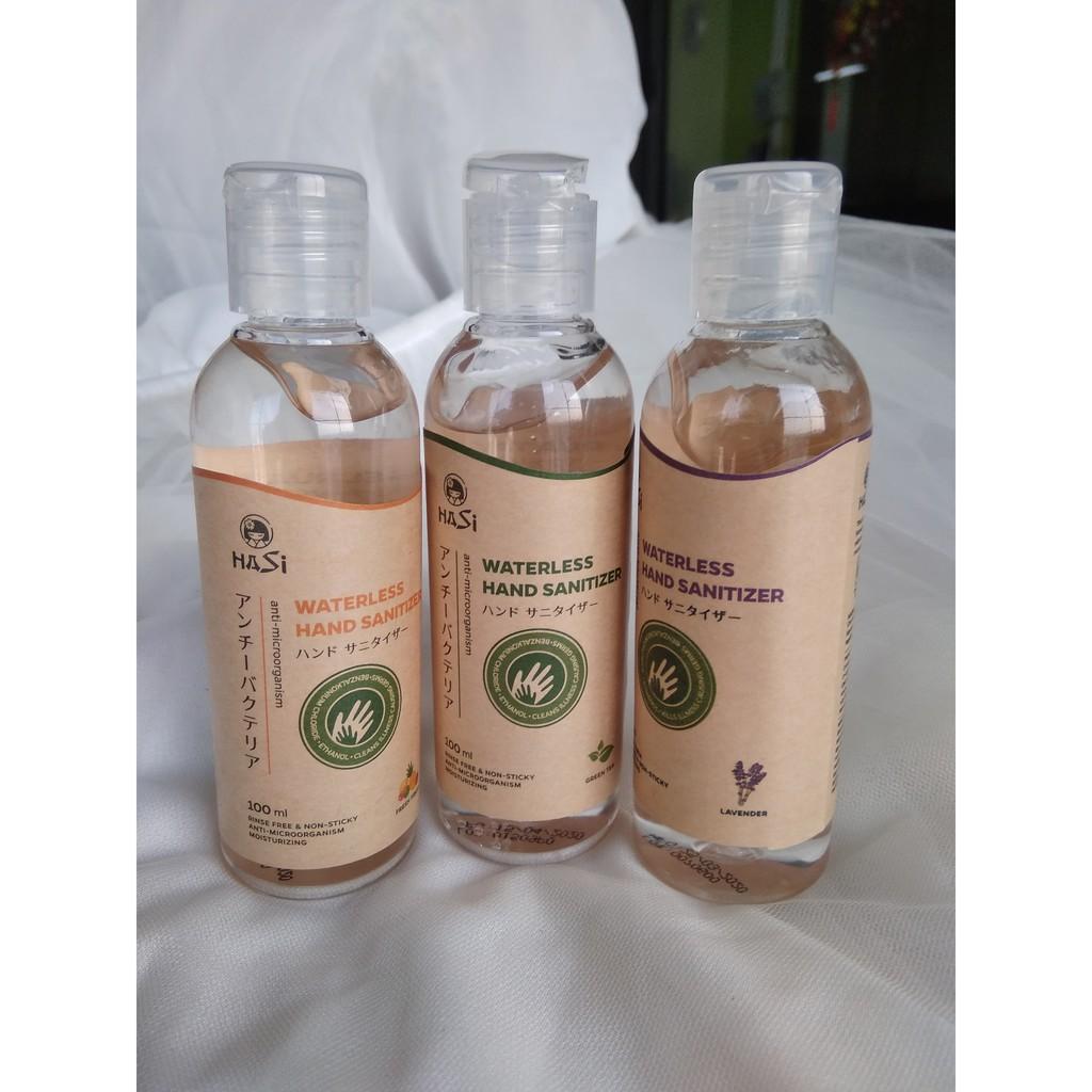 Dung dịch rửa tay khô kháng khuẩn Lavender - Trà Xanh - Trái Cây Hasi Kokeshi 100ml