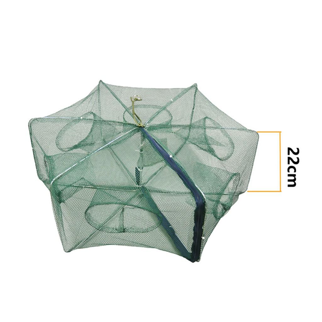 Foldable Crab Net Fishing Bait Fish Minnow Crawfish Shrimp Trap Cast Cage gogoxpmall