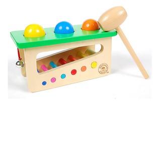 Hộp đập bóng rung chuông – Đồ chơi gỗ luyện vận động tinh