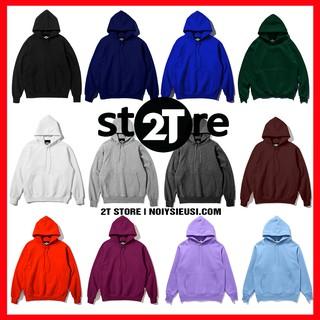 Áo Hoodie unisex 2T Store bst 24 màu sắc – Áo khoác nỉ chui đầu nón 2 lớp dày dặn chất lượng (Màu 1 đến 12)