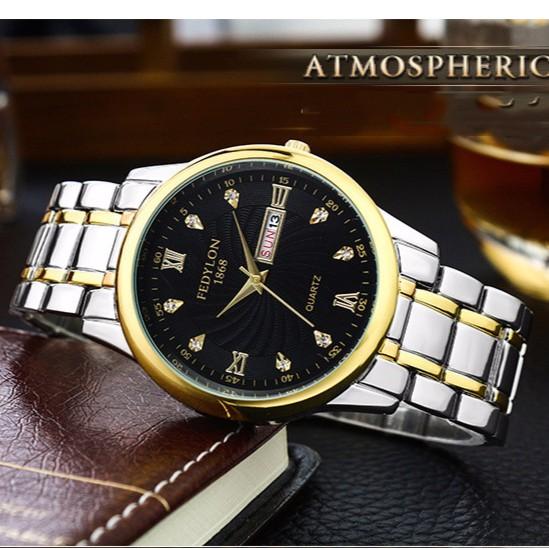 Đồng hồ nam FEDYLON F2288 dây thép đúc cao cấp không gỉ