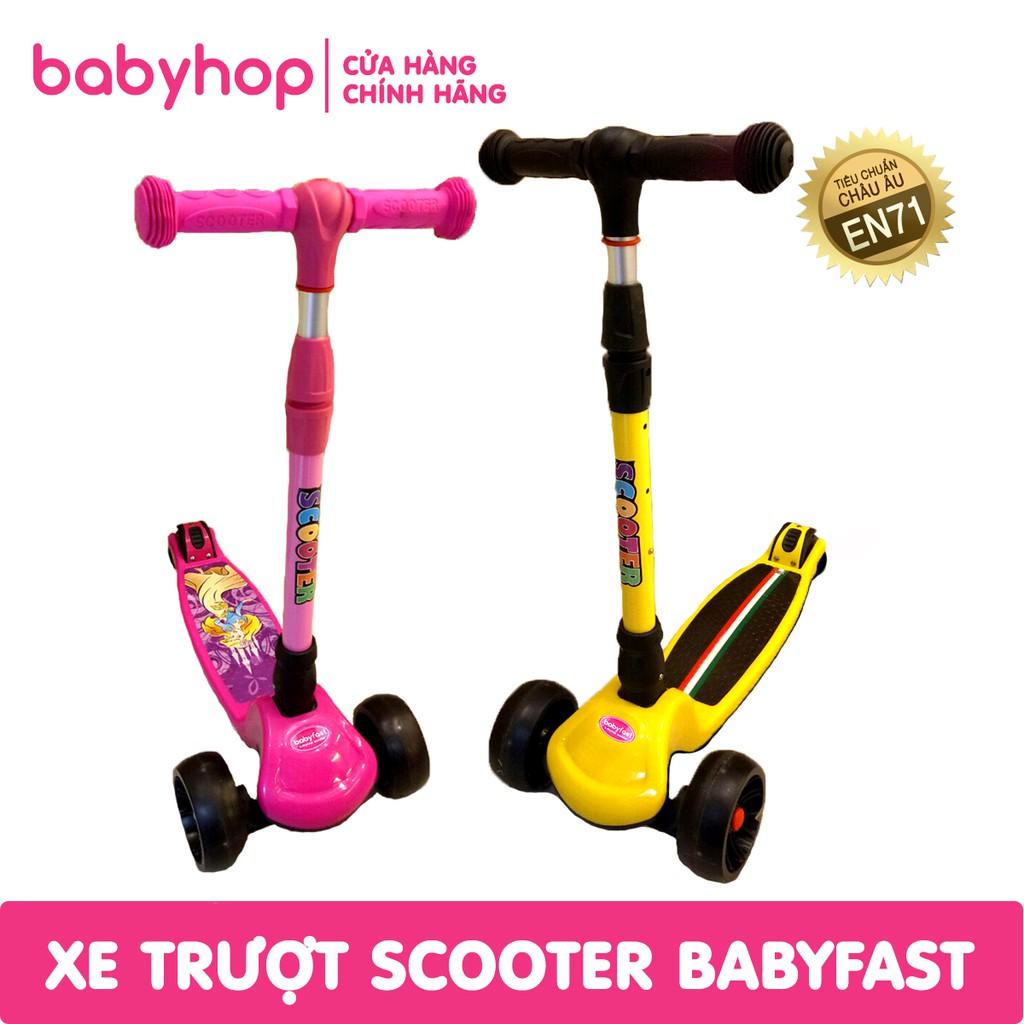 [nhập MKBMBABYHOP8 giảm 8% đơn từ 499k] Xe trượt scooter trẻ em bánh to của babyhop (mẫu mới)