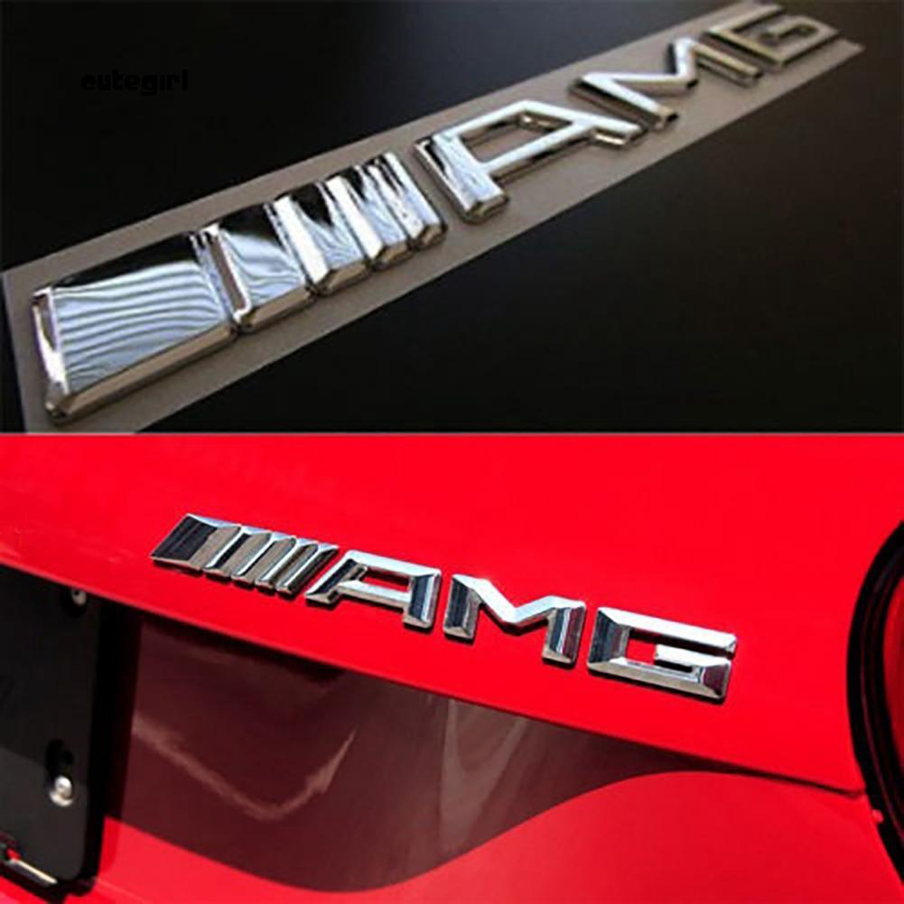 Logo 3D bằng nhựa ABS dán trang trí xe ô tô Benz AMG