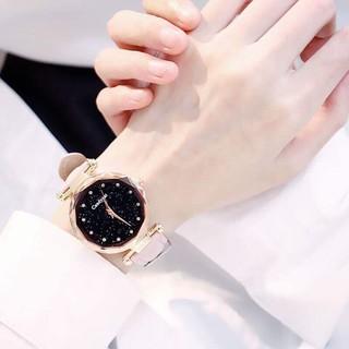 (GIá sỉ) Đồng hồ thời trang nữ dây da nhung Candycat S11