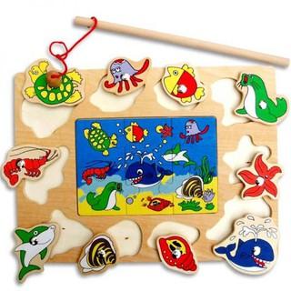 Đồ chơi gỗ bảng câu cá ghép hình