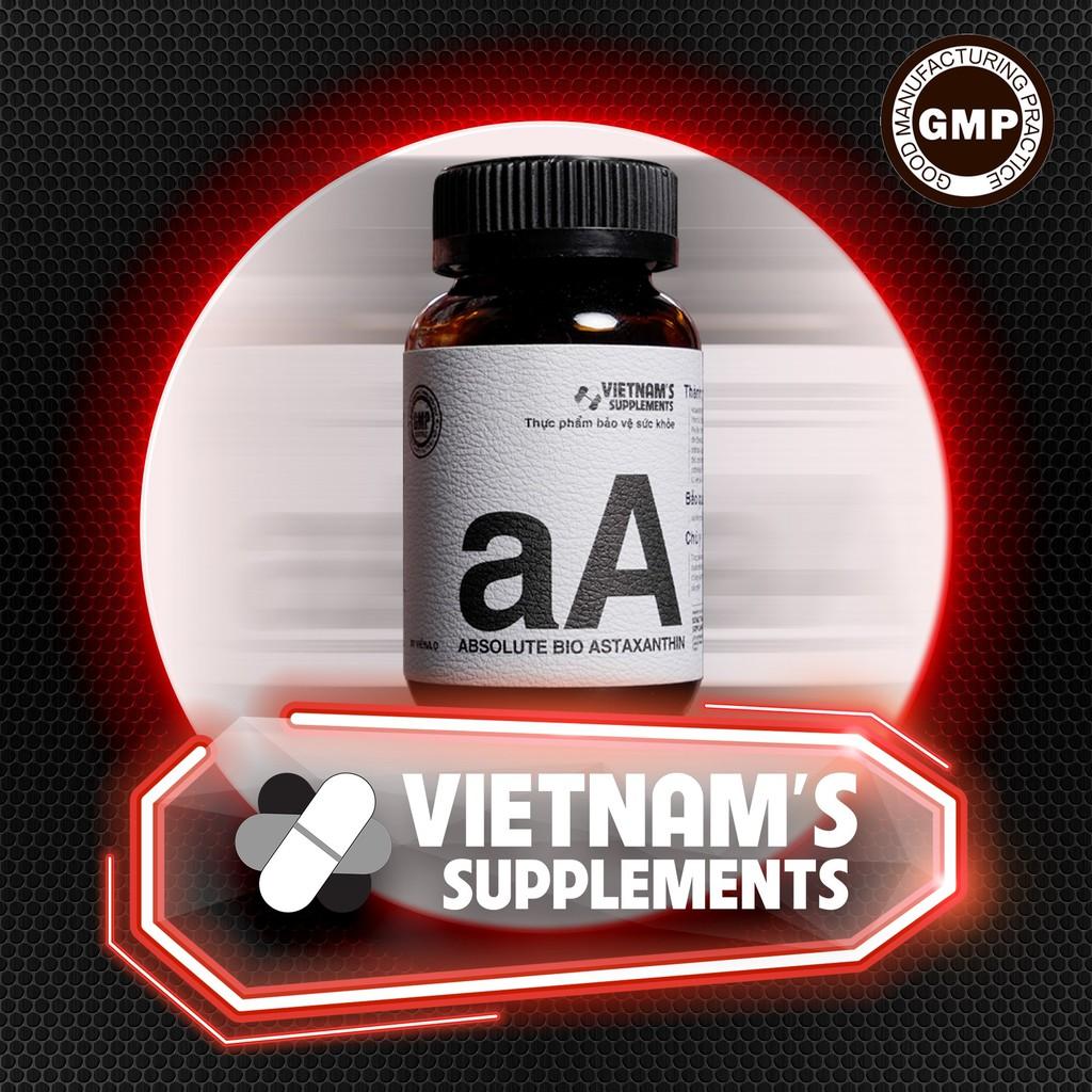 [THỰC PHẨM BẢO VỆ SỨC KHOẺ] Absolute Bio Astaxanthin - Hỗ trợ làm đẹp da
