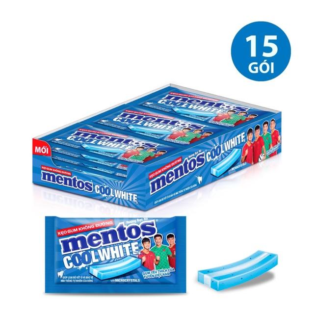 Kẹo gum  Mentos Cool White hương trái cây