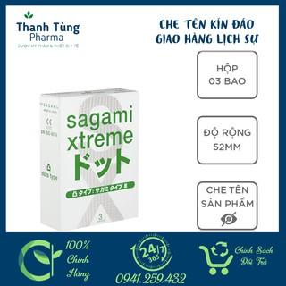 Bao cao su Sagami White Box [CHE TÊN KÍN ĐÁO] CHÍNH HÃNG - Có gai - Hộp 3 thumbnail