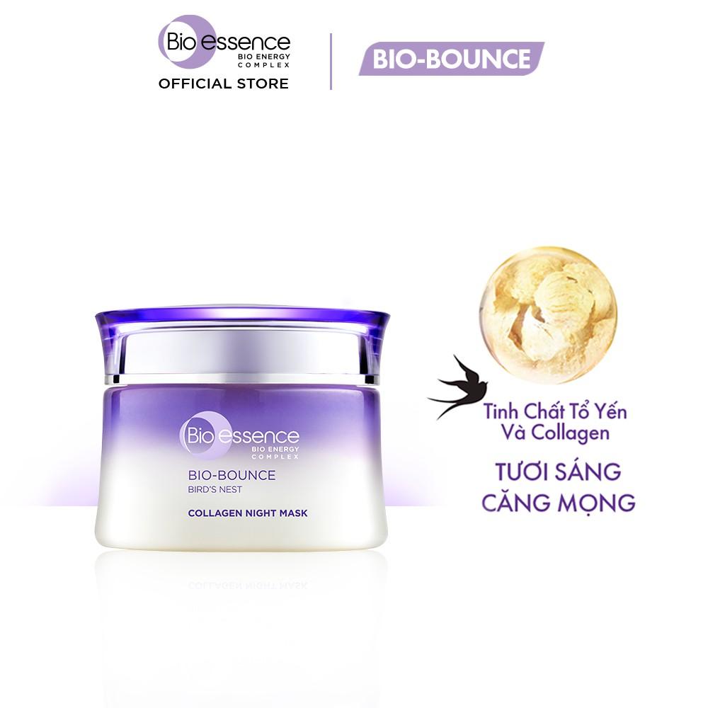 Mặt nạ ngủ tươi sáng căng mọng BioEssence BioBounce Night Mask tinh chất tổ  yến&Collagen 50g | Shopee Việt Nam