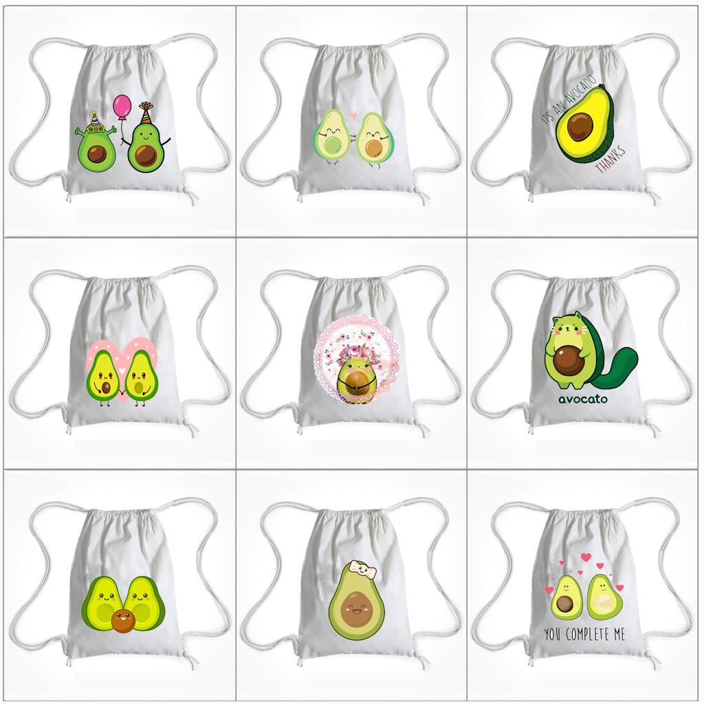 Balo Dây Rút avocado BLRI11 Túi Rút quả bơ hoạt hình thời trang cute dễ thương idol