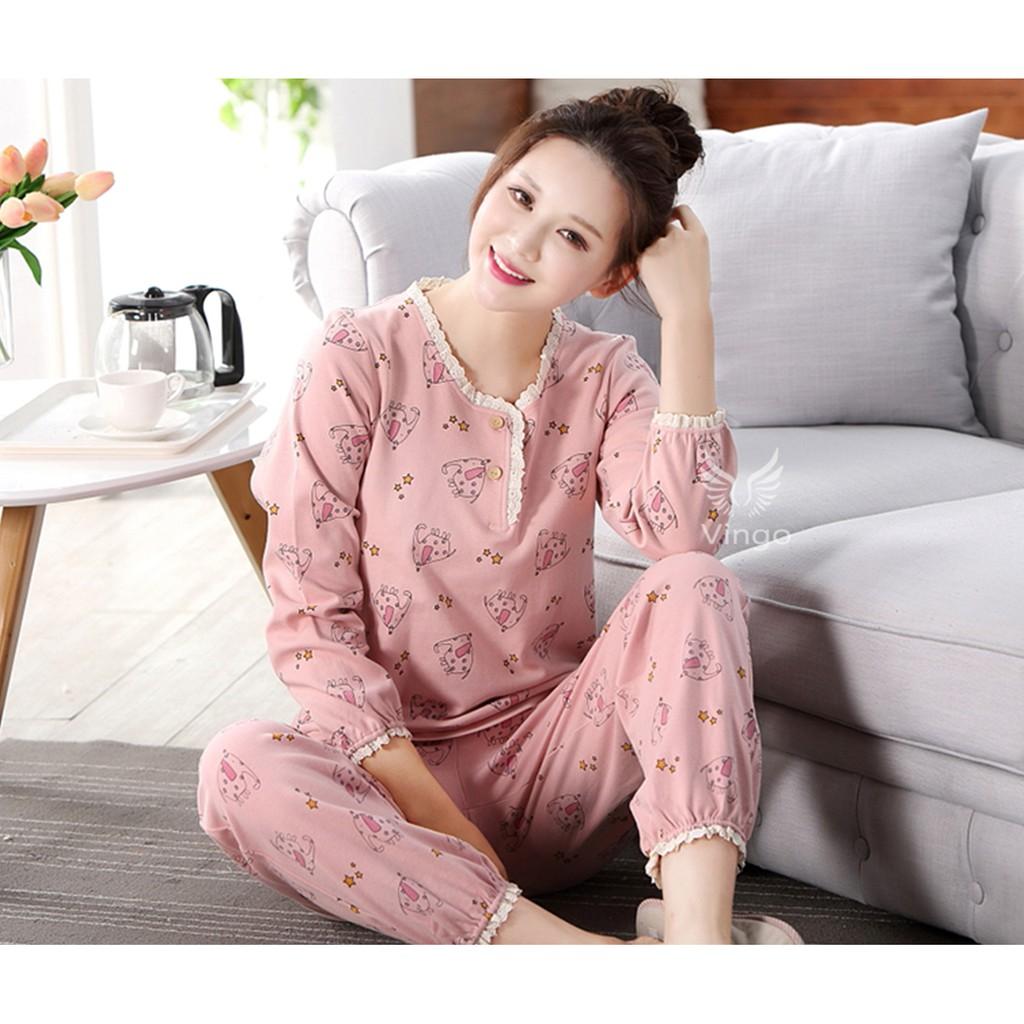 Đồ ngủ bộ cotton cao cấp Doris hồng thương hiệu Vingo - 3095052 , 752366663 , 322_752366663 , 525000 , Do-ngu-bo-cotton-cao-cap-Doris-hong-thuong-hieu-Vingo-322_752366663 , shopee.vn , Đồ ngủ bộ cotton cao cấp Doris hồng thương hiệu Vingo