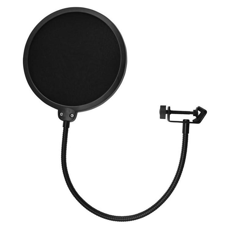 Màng Lọc Âm và Chân Kẹp mic Thu Âm -Giá Đỡ Mic Livestream - Kẹp Bàn Treo Mic và Màng Lọc POP